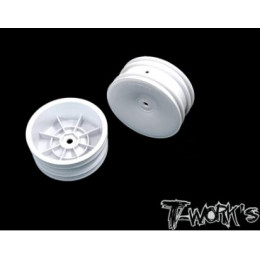 """T-Work's Jantes Avant 2wd 2.2"""" 12mm Blanches (x2) TE-218-AW"""